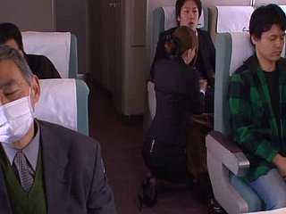 Asian stewardess goes residence prevalent guys that fuck say no to snatch