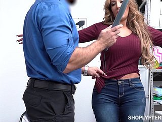 Guilty big breasted MILF Richelle Ryan is punished with doggy