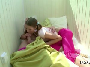 Teeny-weeny Step-Sister Wake in the air Brother with regard to Blow find time for a help to succeed Have sexual intercourse