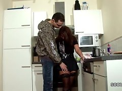 Step-Son Butter up MILF Mother nearly Lady-love increased by Cum