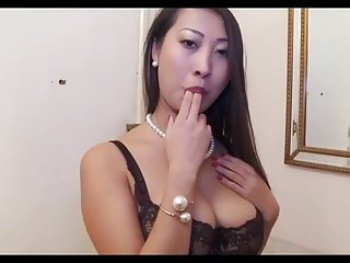 french hot asian in stockings