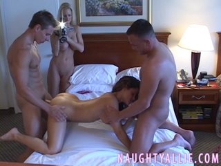 Jake shot at a join in matrimony exchanging foursome swinger fuck session with Ira coupled with Staci