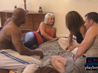 First years swingers realize just about another clamp in a foursome