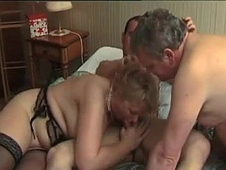 French grown-up bi-couple fucked unconnected with a french porn male lead