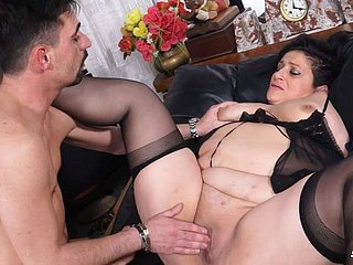 Italian Mature Bbw Getting Pussy With an increment of Painless